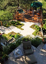 Sikora Creations does custom outdoor living space landscaping